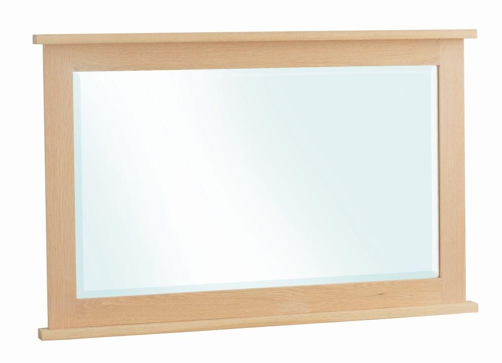 Corndell Nimbus Satin Oak Rectangular Mirror - 104cm x 64cm