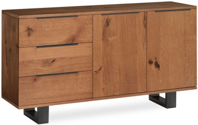 Corndell Oak Mill Waxed Oak Sideboard