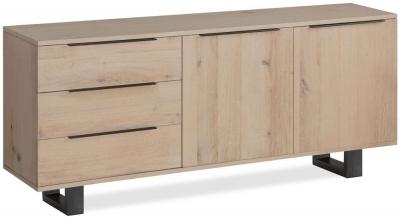 Corndell Oak Mill White Oiled Oak Wide Sideboard