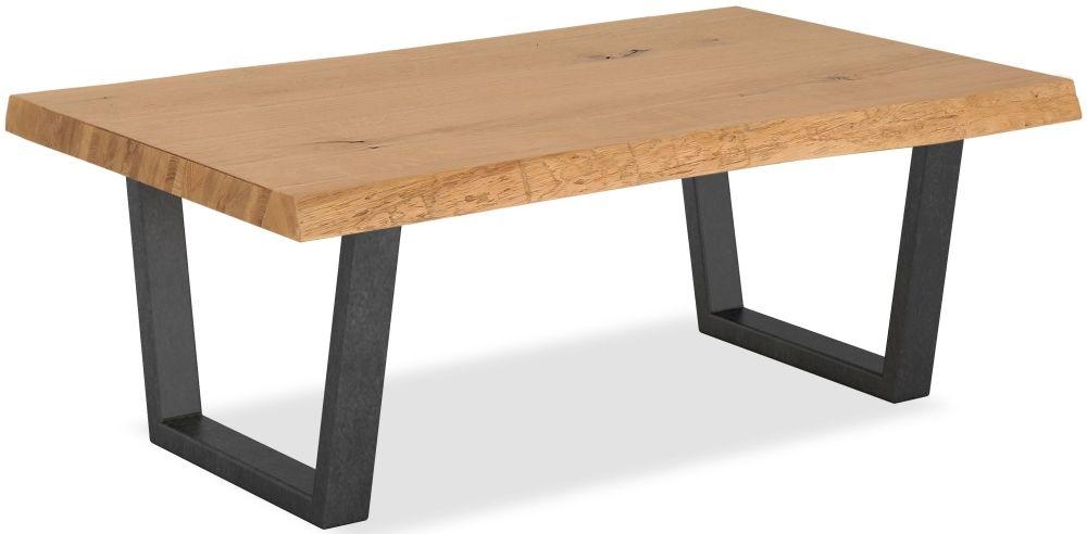 Corndell Oak Mill Coffee Table - Waxed Oak and Metal