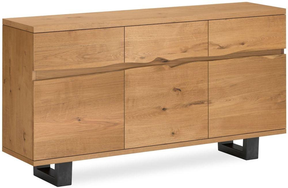 Corndell Oak Mill Large Sideboard - Waxed Oak and Metal