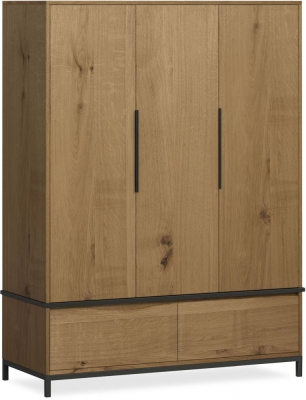 Corndell Oak Mill 3 Door Triple Wardrobe
