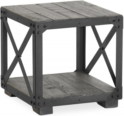 Corndell Paxton Lamp Table - Recycled Pine and Metal