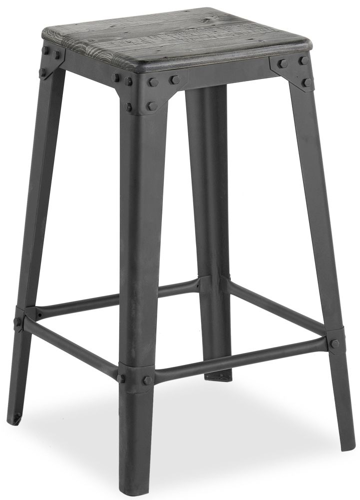 Corndell Paxton Bar Stool - Recycled Pine and Metal