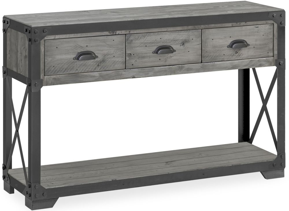 Corndell Paxton Console Table - Recycled Pine and Metal