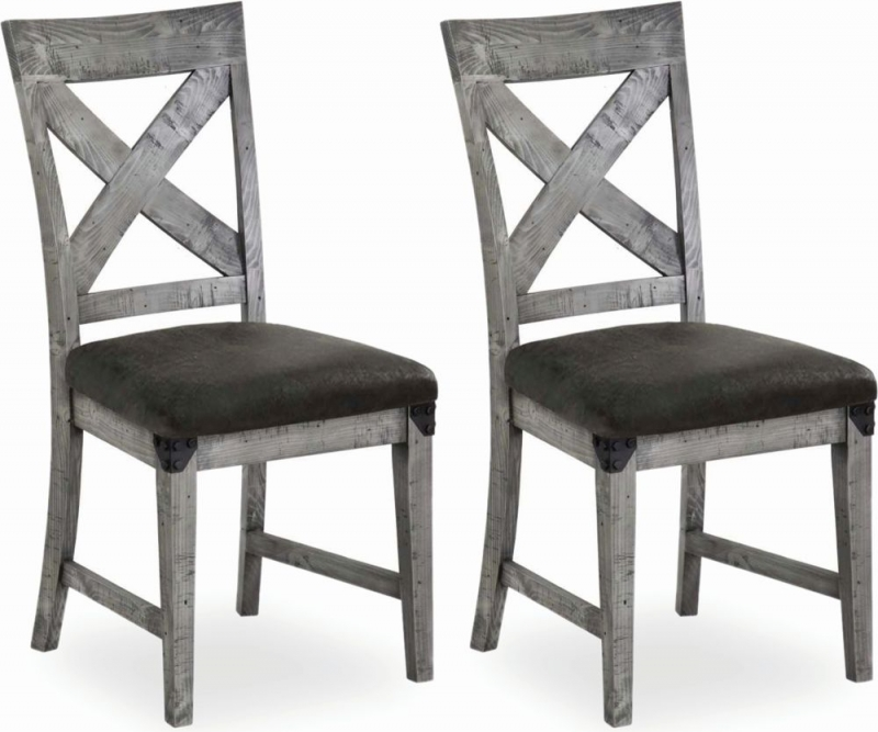 Corndell Paxton Dining Chair - Recycled Pine and Metal (Pair)