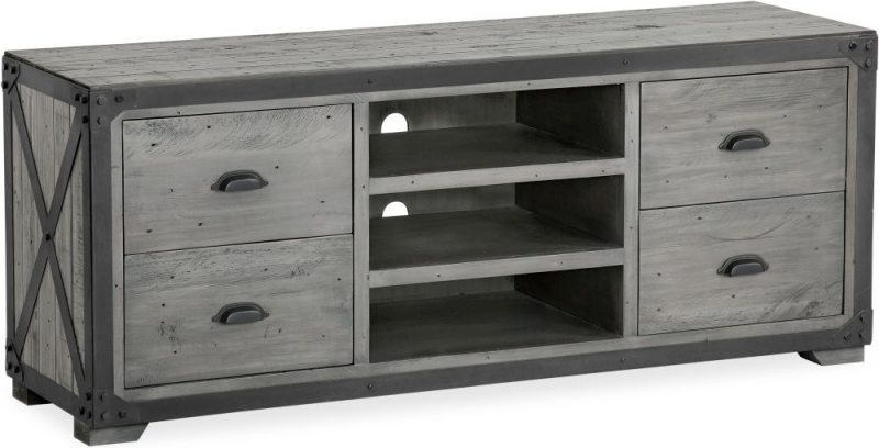 Corndell Paxton TV Unit - Recycled Pine and Metal