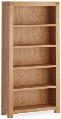 Corndell Sherwood Rustic Oak Large Bookcase