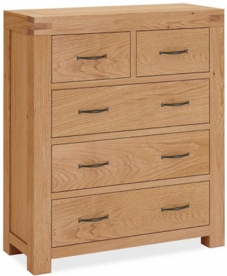 Corndell Sherwood Rustic Oak 3+2 Drawer Chest