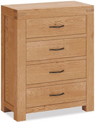 Corndell Sherwood Rustic Oak 4 Drawer Chest
