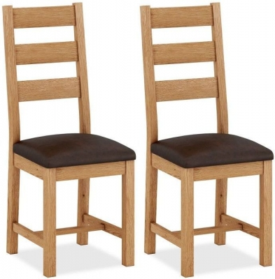 Corndell Sherwood Rustic Oak Dining Chair (Pair)