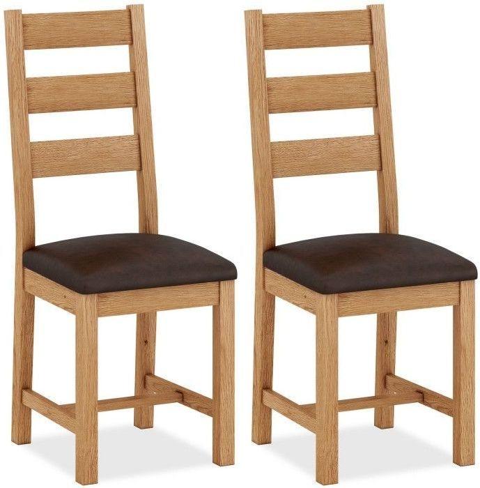 Corndell Sherwood Rustic Oak Dining Chair (Pair)
