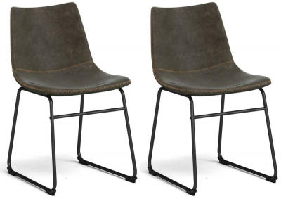 Corndell St James Jack Brown Leather Dining Chair (Pair)