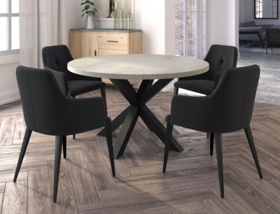 Corndell St James Mayfair 130cm Round Dining Set - 4 Sophia Chairs