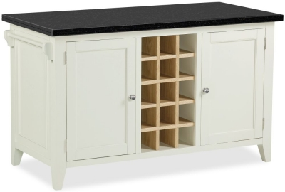Corndell Tetbury Painted Kitchen Island with Marble Top