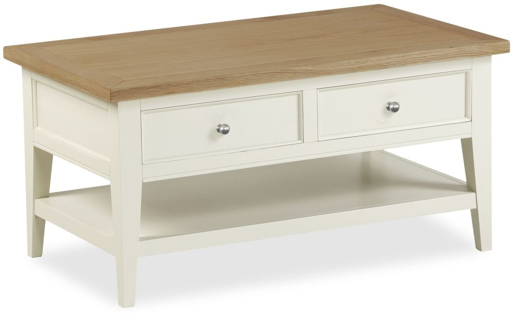 Corndell Tetbury Painted Storage Coffee Table - 2 Drawer