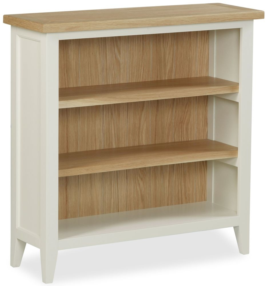 Corndell Tetbury Painted Bookcase - Low 2 Shelves