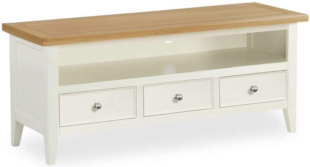 Corndell Tetbury Painted TV Unit - Small 3 Drawer