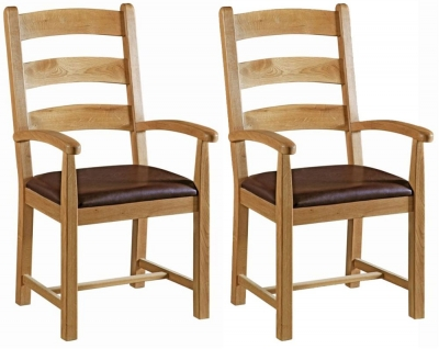 Corndell Winslow Oak Carver Chair (Pair)