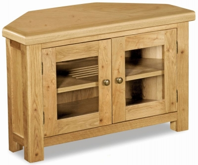 Corndell Winslow Oak Corner TV Unit