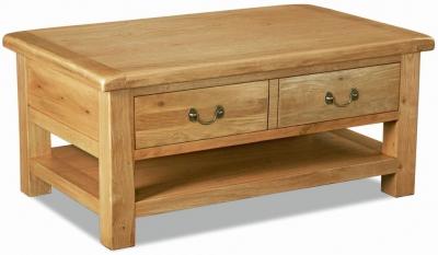 Corndell Winslow Oak Large Coffee Table