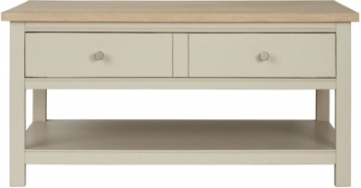 Corndell Woodstock 2 Drawer Coffee Table - Oak and Painted