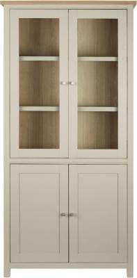 Corndell Woodstock Pebble Grey Painted Display Cabinet