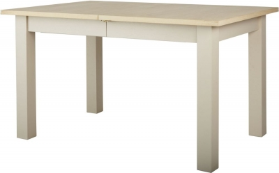 Corndell Woodstock 135cm-180cm Pebble Grey Painted Extending Dining Table