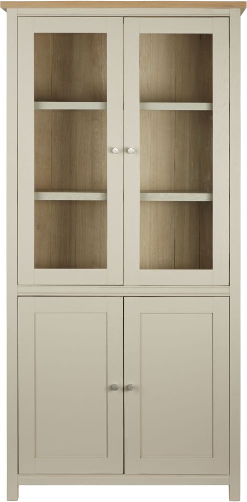Corndell Woodstock 4 Door Display Cabinet - Oak and Painted
