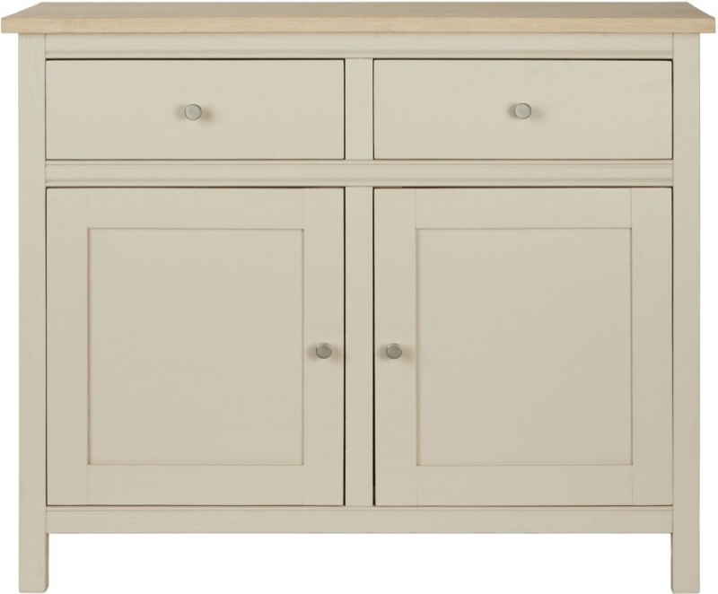 Corndell Woodstock 2 Door 2 Drawer Small Sideboard - Oak and Painted