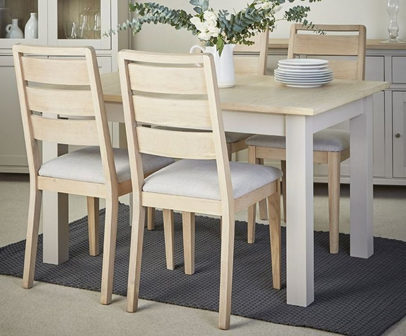 Corndell Woodstock Extending Dining Table and 4 Chairs - Oak and Painted