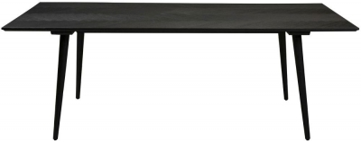 Dan Form Bone Black 220cm Rectangular Dining Table