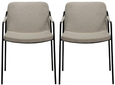 Dan Form Boto Desert Sand Fabric Dining Chair (Pair)
