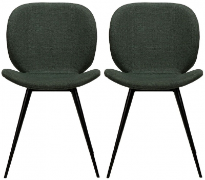Dan Form Cloud Sage Green Fabric Dining Chair (Pair)