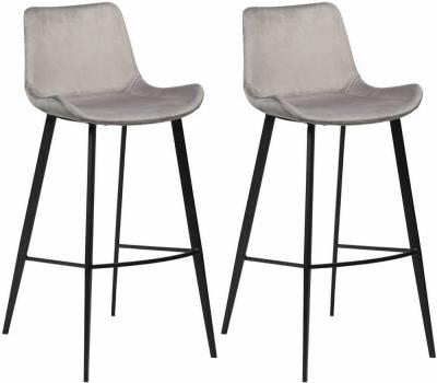 Clearance - Dan Form Hype Alu Velvet Dining Chair with Black Legs (Pair) - New - FS1003