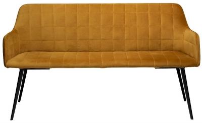 Dan Form Embrace Bronze Velvet Bench