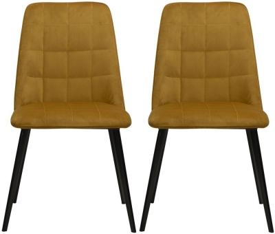 Dan Form Embrace Bronze Velvet Dining Chair (Pair)