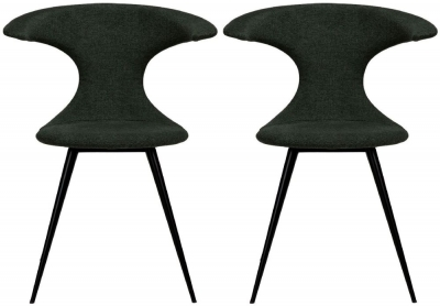Dan Form Flair Sage Green Fabric Dining Chair (Pair)