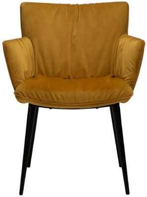 Dan Form Join Bronze Velvet Armchair