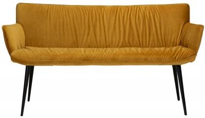 Dan Form Join Bronze Velvet Bench