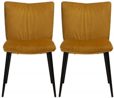 Dan Form Join Bronze Velvet Dining Chair (Pair)