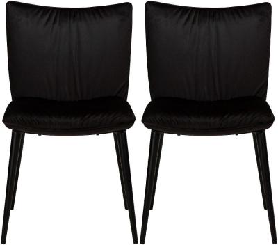 Dan Form Join Meteorite Black Velvet Dining Chair (Pair)