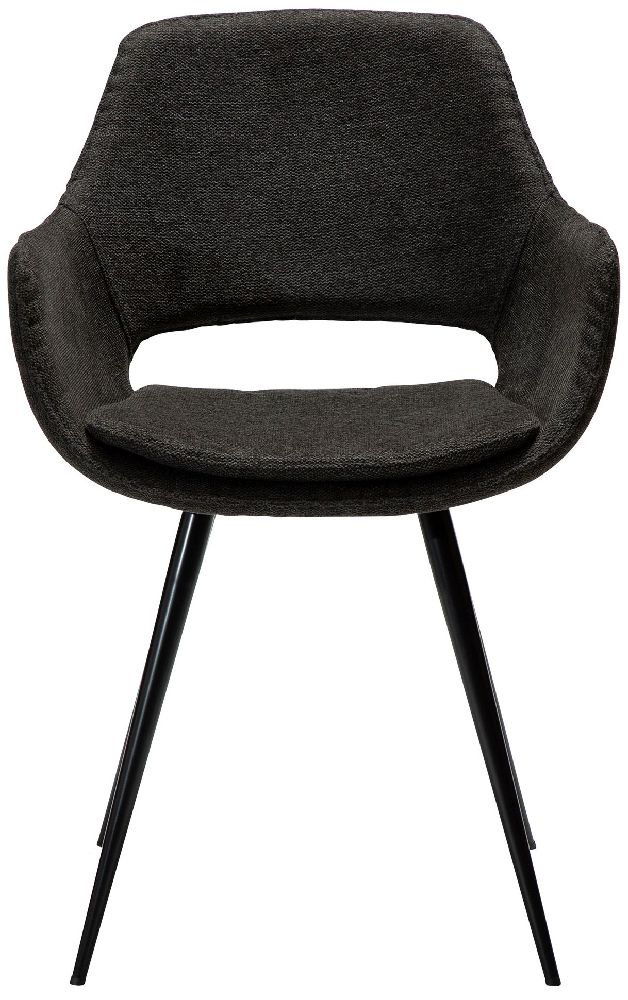 Dan Form OHH Crow Black Fabric Armchair