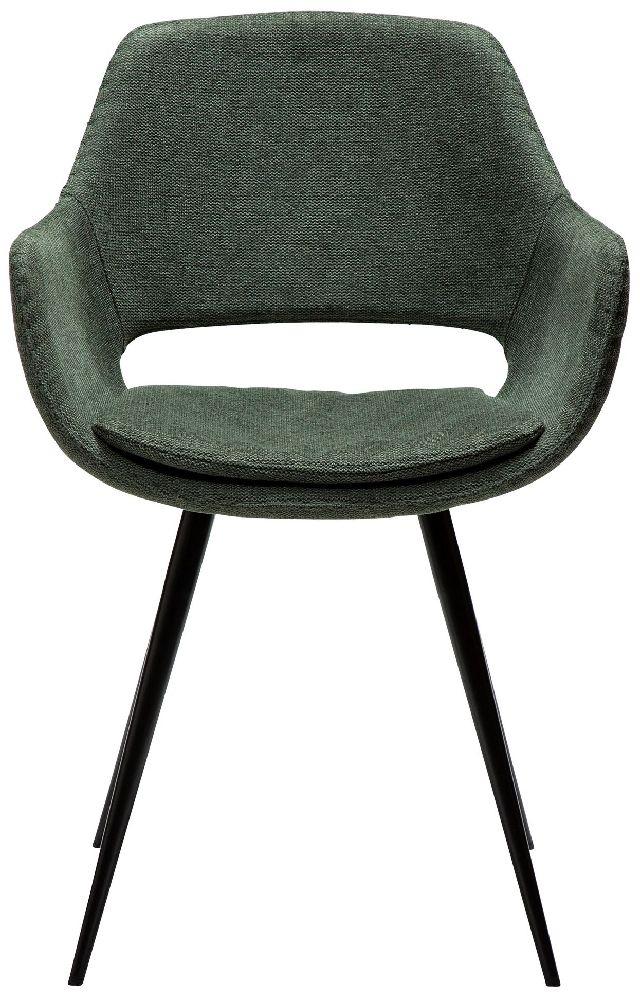 Dan Form OHH Sage Green Fabric Armchair