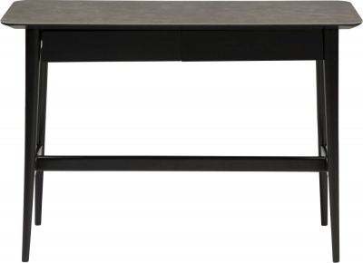 Dan Form Passo Grey Grey Console Table with Black Legs