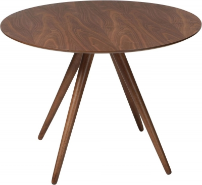 Dan Form Pheno Walnut 106cm Round Dining Table