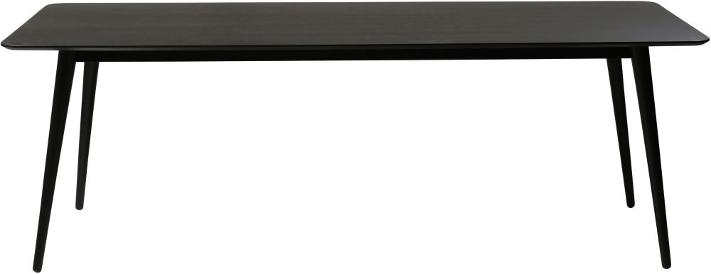 Dan Form Pheno Black Oak 220cm Rectangular Dining Table