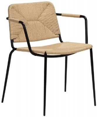 Dan Form Stiletto Natural Paper Cord Armchair