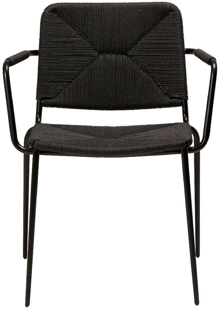 Dan Form Stiletto Black Paper Cord Armchair