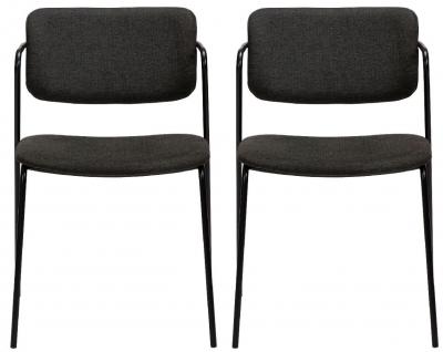 Dan Form Zed Crow Black Fabric Dining Chair (Pair)